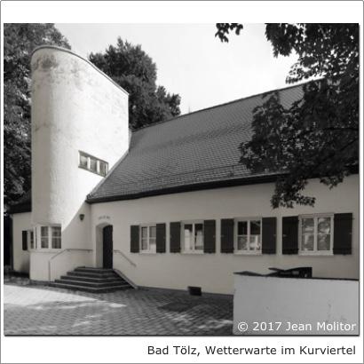 Dr. Kaija Voss/Jean Molitor, Bad Tölz, Wetterwarte im Kurviertel