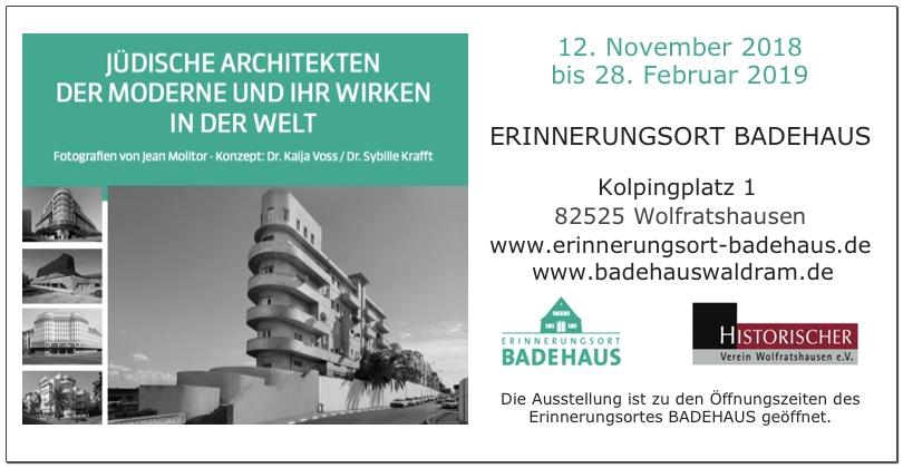 Erinnerungsort BADEHAUS, Sonderausstellung Jüdische Architekten