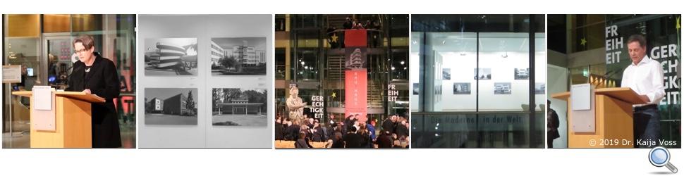 Dr. Kaija Voss, Berlin, Vernissage bau1haus-Ausstellung, FkWBH