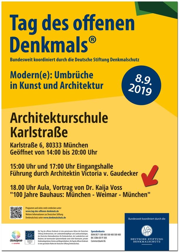 Dr. Kaija Voss, Tag des Offenen Denkmals, Vortrag Bauhaus